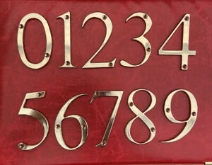 """hardex Gold Door Numbers & Letters 3"""" (75 mm)   House, Flat, Apartment, Shop"""