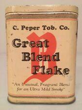 Very Rare Great Blend Flake Pocket Tobacco Tin!  NR!