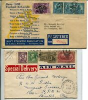Special Delivery Airmail Registered Letter Cover Collection Stamps Postage USA