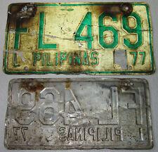 1977 Philippines PILIPINAS LICENSE CAR PLATE # FL 469