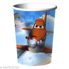 DISNEY PLANES 9oz PAPER CUPS (8) ~ Birthday Party Supplies Beverage Drink Dusty