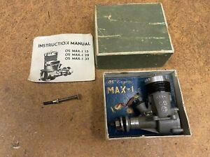 vintage O.S. Max-I .35 Control Line Model Airplane Engine