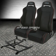 NRG 2 TYPE-R RED STITCHES  RACING SEAT+LOW-MOUNT BRACKET FOR 03-09 NISSAN 350Z Z