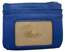 New Buxton Women's ID Coin Purse Card Case Wallet Blue