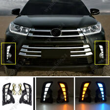 LED DRL Daytime Running Light/Front Fog Lights For 2017-2019 Toyota Highlander