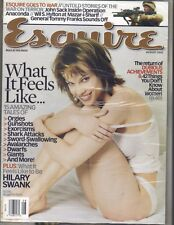HILARY SWANK BAREFOOT Esquire Magazine 8/02 MICHAEL VARTAN ALIAS SEALED