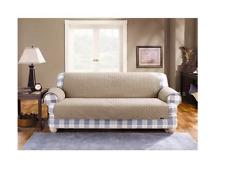 Sure Fit Cotton Duck Sofa Pet Throw LINEN  (Diamond pattern)