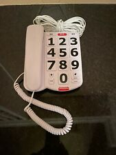 Home Intuition Amplified Single Line Corded Desk Telephone Easy Read Buttons