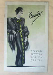 Fashion list of Made-to-order ladies clothes from Bradleys (Chepstow Place) 1934