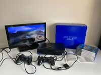PS2 Sony PlayStation 2 Console Bundle - SCPH 30003 - Controllers 6 Games Boxed