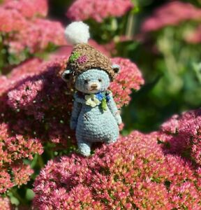 OOAK Miniature Crochet Thread ARTist Teddy Bear Doll