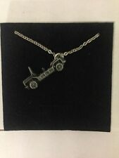 Mini Moke ref146 Car Emblem on Silver Platinum Plated Necklace 18""
