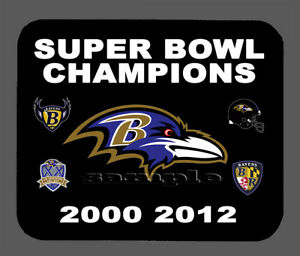 Baltimore Ravens Super Bowl Championship Banner Mouse Pad Item#485