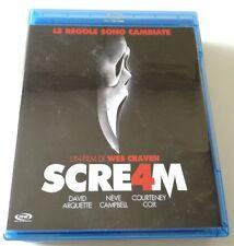 SCREAM 4 FILM BLU-RAY BD PERFETTO ITALIANO VENDITA SPED GRATIS SU + ACQUISTI