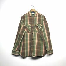 VINTAGE SUGAR CANE WORK WEAR DOUBLE POCKET FLANNEL SHIRT SIZE LARGE TOYO ENT