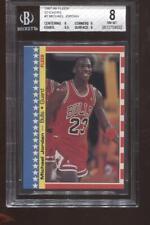 Michael Jordan 2nd Year! 1987-88 Fleer Sticker #2 Chicago Bulls HOF BGS 8