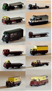 BT Models N Gauge Trucks Trailers and Vans 1:148 Scale Model Rail Scenics