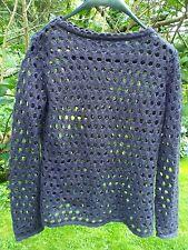 PULL / HAUT  pour FEMME façon crochets très doux couleur VIOLET TBE T 38 / 40