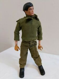 Vintage Action Man Palitoy British Army Uniform Flocked Hair Gripping Hands