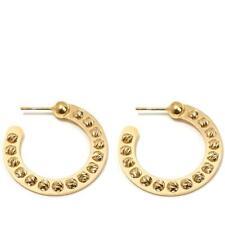 Athomie Vermeil 15Mm Small Hoop Beads Pierced Earrings Hsn $168