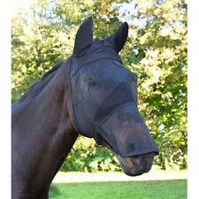 Kerbl Fliegenmaske mit Ohrenschutz Nüsternschutz f. Warmblut Pferde Fliegenhaube