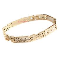 bracciale braccialetto da uomo in acciaio dorato elegante cod. 89