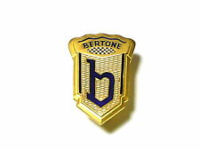 Fregio stemma logo ALFA ROMEO BERTONE met dorato smalt fuoco 41x28 badge emblem