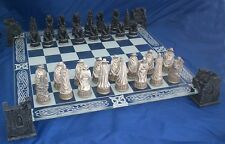 VAMPIRE & WEREWOLF CHESS SET Glass Board GOTHIC PAGAN CELTIC Fantasy TWILIGHT
