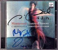 Philippe Jaroussky Nuria Rial SIGNED Monteverdi: teatro d ' amore christinarose Pluhar