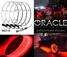 "Red Single LED Illuminated Car Truck Wheel Rings For 19"" Wheels Or Larger"