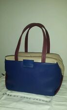 NWT $495 MARC BY MARC JACOBS 'Medium Box' Leather Satchel Blue