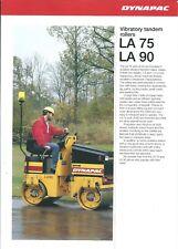 Equipment Brochure - Dynapac - La 75 90 - Vibratory Tandem Roller - 1993 (E5736)
