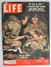 Vintage Life Magazine 1956 February 27 Eskimo Family Winnie Pooh Coca Cola Ad