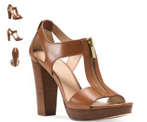 Michael Kors Berkley Leather Platform Sandal Luggage Women's US sizes 5-11/NEW!!