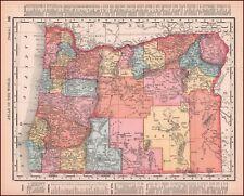 OREGON, ORIGINAL ANTIQUE MAP published in 1897