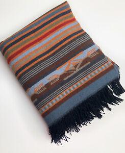 "Pendleton Home Collection Chimayo Wool Throw Blanket Fringed 52.5"" X 70"""