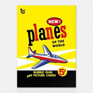 PLANES OF THE WORLD 1957 TOPPS 80TH ANNIVERSARY WRAPPER ART CARD #27 #Topps