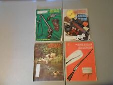 LOT OF 4 1970S THE AMERICAN RIFLEMAN MAGAZINES,PISTOLS,RIFLES,HUNTING,TRACKING