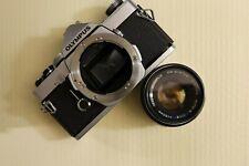 Olympus Om-1 35mm Slr Film Camera W/ 50mm Zuiko Lens Great Condition