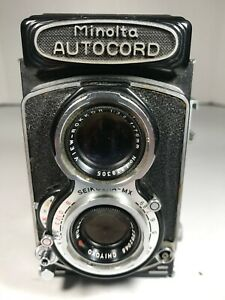 Minolta Autocord TLR Rokkor 1:3.2 f=75mm Lens Seikosha Camera