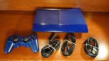 2007 Playstation 3 Super Slim 500GB Blue Console CECH-4004C + accessories PS3