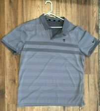 Nike Golf Zonal Cooling Mens X-LARGE Grey Performance Wicking Polo Shirt XL