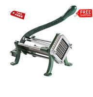 """3/8"""" Green French Fry Cutter Potato Cutter Slicer Dicer Copper Commercial"""