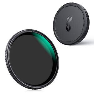 K&F Concept ND2-ND32 lens filter NANO X Variable+Lens Cap 67/72/77/82mm No cross