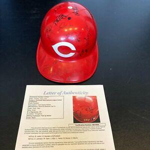 1995 Cincinnati Reds Central Division Champs Team Signed Game Used Helmet JSA