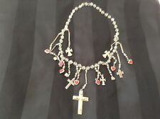 """Beautiful  hand made Milagro necklace 16"""" long. Crystal beads."""