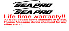 Pair Of 44 Long Sea Pro Boat Hull Decals Marine Grade. Your Color Choice.