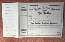 More details for new bedford railroad company -  1800s blank share certificate