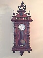 Antique FMS Friedrich Mauthe Schwenningen Clock Vienna Regulator Horse Finial
