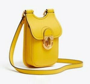 Tory Burch James Phone Leather Crossbody ~NWT~ Lemon Drop